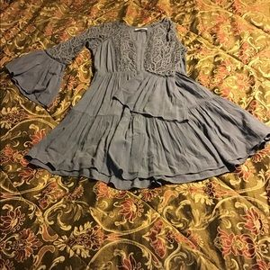 American Eagle Outfitters Gray Casual Dress